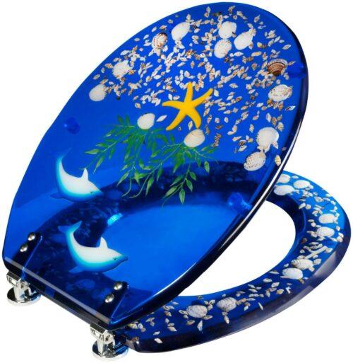 WC-Sitz Delfin Toilettensitz mit eingelegten Meeresmotiven B12653603 UVP 49,99€ | WC Sitz Delfin Toilettensitz mit eingelegten Meeresmotiven B12653603 UVP 4999 333080581368 3