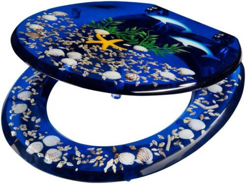 WC-Sitz Delfin Toilettensitz mit eingelegten Meeresmotiven B12653603 UVP 49,99€ | WC Sitz Delfin Toilettensitz mit eingelegten Meeresmotiven B12653603 UVP 4999 333080581368