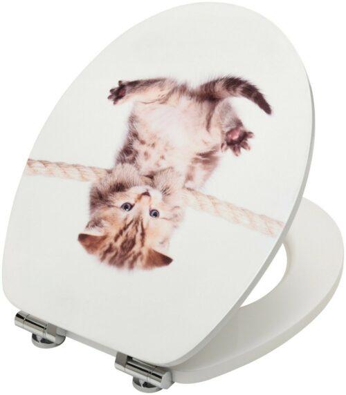 WC-Sitz Katze MDF Toilettensitz mit Absenkautomatik B22909045 ehemalige UVP 44,99€ | WC Sitz Katze MDF Toilettensitz mit Absenkautomatik B22909045 UVP 5499 233410459872 4