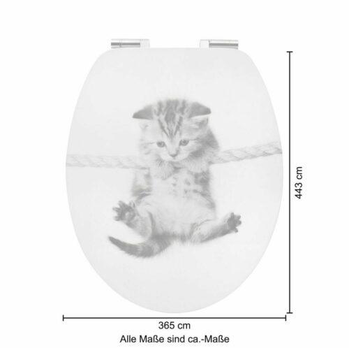 WC-Sitz Katze MDF Toilettensitz mit Absenkautomatik B22909045 ehemalige UVP 44,99€ | WC Sitz Katze MDF Toilettensitz mit Absenkautomatik B22909045 UVP 5499 233410459872 6