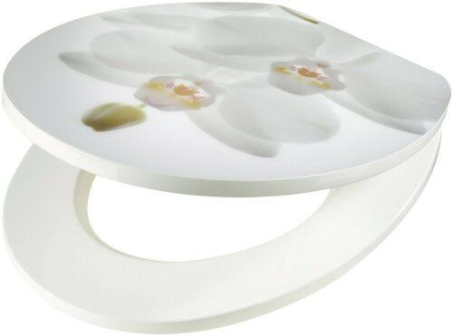 WC-Sitz Orchidee weiß MDF Toilettensitz mit Absenkautomatik B64666168/83371517 ehemalige UVP 44,99€ | WC Sitz Orchidee wei MDF Toilettensitz mit Absenkautomatik B64666168 UVP6499 333073219869