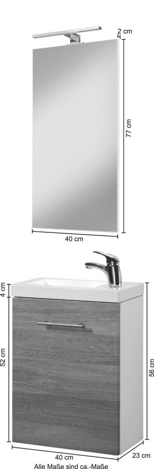 WELLTIME Waschplatz-Set Trento SlimLine Waschtisch B40 cm B50800140 UVP 199,99 € | WELLTIME Waschplatz Set Trento SlimLine Waschtisch B40 cm B50800140 UVP 19999 333611064018 6