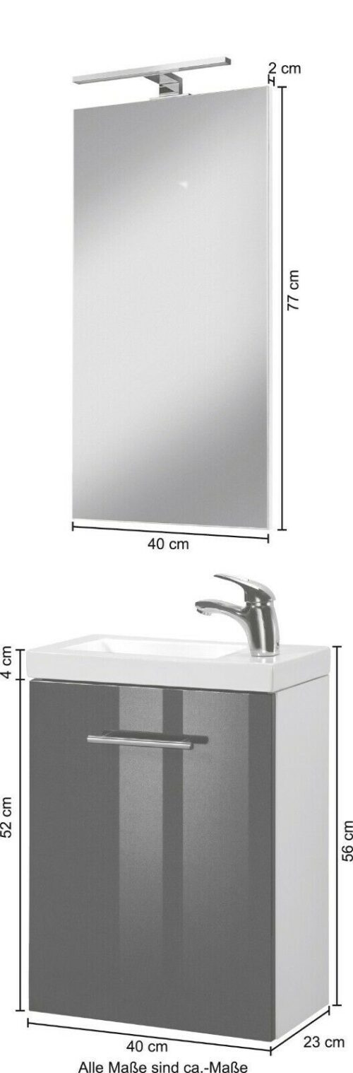 WELLTIME Waschplatz-Set Trento SlimLine Waschtisch Set B84347334 UVP 199,99€ | WELLTIME Waschplatz Set Trento SlimLine Waschtisch Set B84347334 UVP 19999 333610267733 6