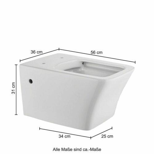 Wand-WC Trento eckig WC-Sitz mit Softclose B64842401 ehemalige UVP 299,99€ | Wand WC Trento eckig WC Sitz mit Softclose B64842401 UVP 29999 333556997313 9