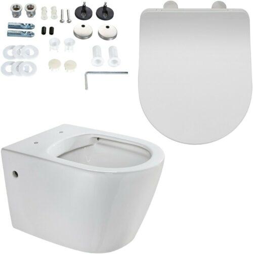 Wand WC Vigo Toilette spülrandlos WC-Sitz Softclose B63488014 ehemalige UVP 229,99€ | Wand WC Vigo Toilette splrandlos WC Sitz Softclose B63488014 UVP 22999 233509150304