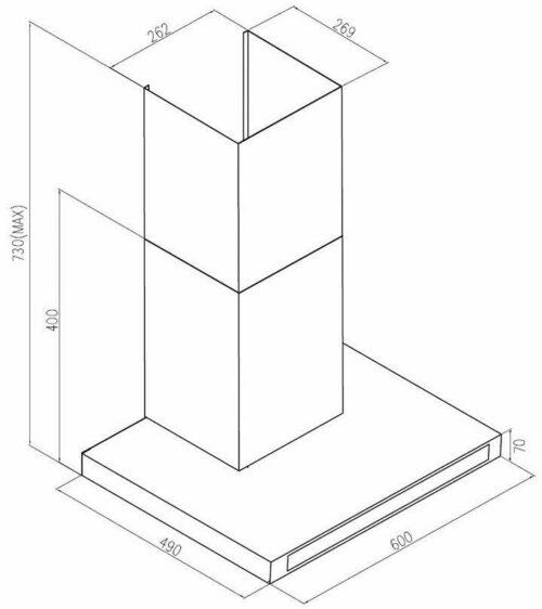 Wandhaube, Leistung bis zu 373m3/h edelstahl schwarz B348389 UVP 179,99€ Energieeffizienzklasse B | Wandhaube Leistung bis zu 373 m3h edelstahl schwarz B348389 UVP 17999 333151321934 4