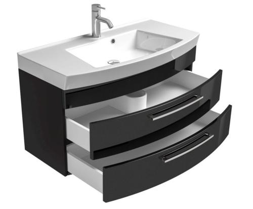 Waschplatz Waschtisch Roma Waschbecken 100cm schwarz B587084 UVP 599,99€ | Waschplatz Waschtisch Roma Waschbecken 100cm schwarz B587084 UVP 59999 333374556651 4