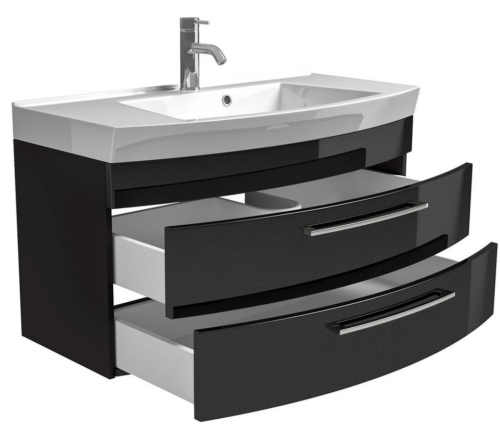 Waschplatz Waschtisch Roma Waschbecken 100cm schwarz B587084 UVP 599,99€ | Waschplatz Waschtisch Roma Waschbecken 100cm schwarz B587084 UVP 59999 333374556651 5