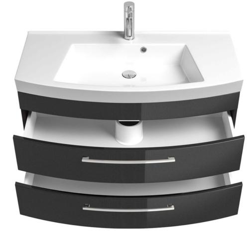 Waschplatz Waschtisch Roma Waschbecken 100cm schwarz B587084 UVP 599,99€ | Waschplatz Waschtisch Roma Waschbecken 100cm schwarz B587084 UVP 59999 333374556651 6
