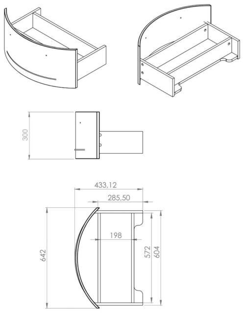 Waschtisch »Flow«, weiß Breite 65 cm, (2-tlg.) B235316 UVP 599,99 €   Waschtisch Flow wei Breite 65 cm 2 tlg B235316 UVP 59999 233138975221 8
